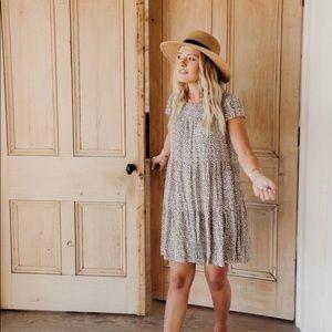 Carly Jean Los Angeles Dune leopard dress